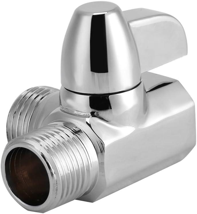 2T Form Duschadapterventil Messing Umsteller aus Messing f/ür Brausearm Delaman 3 Wege G1 Ventil