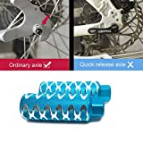 "WADEKING Bike Pegs 4.3"" Length, Fit 3/8 inch Axles, for Freestyle BMX Bikes and All Kinds of Bicycles, Durable, Stylish Non-Slip Carving(2"