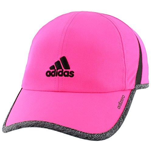 adidas Women's Adizero Ii Cap, Shock Pink/Dark Grey Heather/Black, One - Hat Pink Running