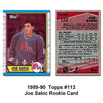 Amazoncom Topps Colorado Avalanche Joe Sakic 89 90 Rookie