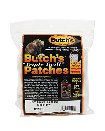 - Butch's Twill Cleaning Patches (Bag of 500) (2-1/4-Inch)