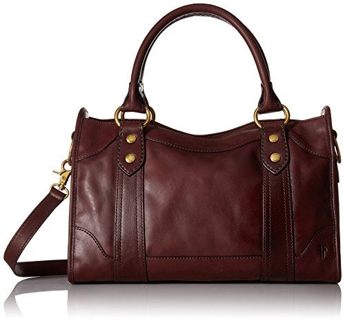 FRYE Melissa Satchel Smooth Full Grain, Wine Smooth Leather by FRYE