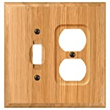 AmerTac 4025TD Traditional Light Oak Wood Wall plate