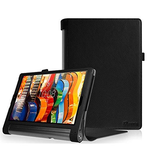 Fintie Lenovo YOGA Tablet 3-10 Pro Hülle Case - Slim Fit Folio Premium Kunstleder Schutzhülle Tasche Etui Cover mit Standfunktion Stylus Loop für Lenovo YOGA Tablet 3 10 Pro 25,6 cm (10,1 Zoll QHD IPS) Tablet, Schwarz