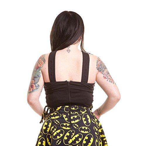 Kleid Batman Kleid Shade Schwarz Bat Damen Logos Neckholder Mini wEHrvxE