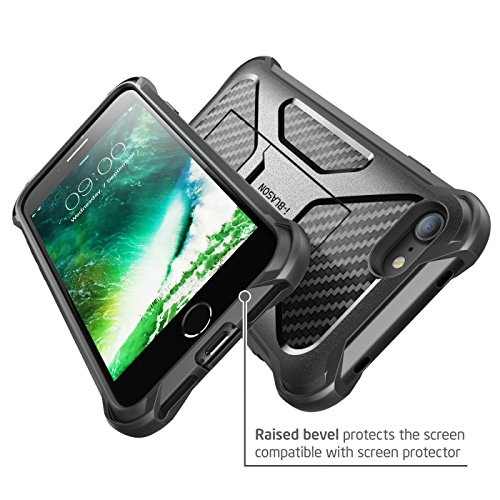 iPhone 7 Case, iPhone 8 Case, i-Blason Transformer [Kickstand] Apple iPhone 7/Apple iPhone 8 [Heavy Duty] [Dual Layer] Combo Holster Cover case with [Locking Belt Swivel Clip] (Black) by i-Blason (Image #5)