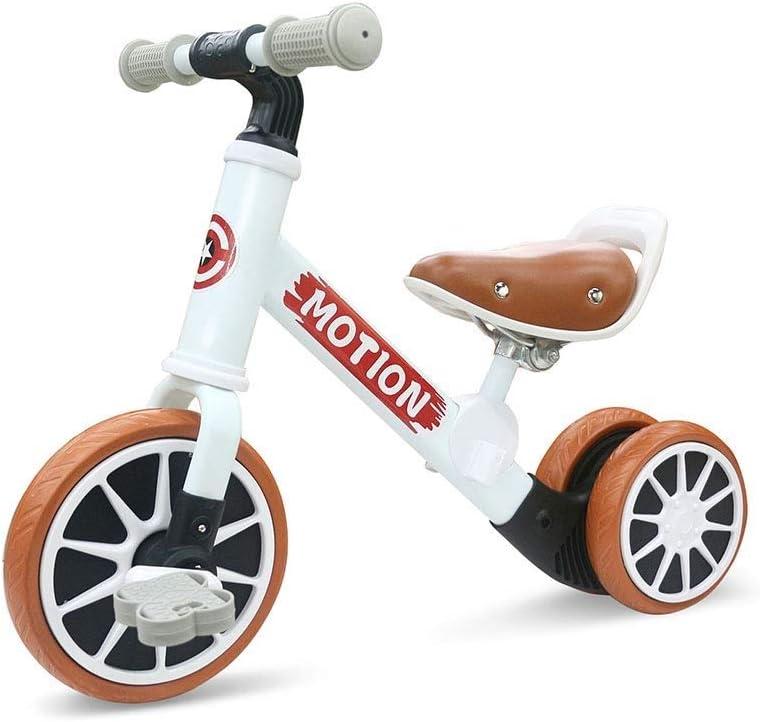 KYL Formación y Estudio de Bicicletas for Niños Niñas Bicicleta de Equilibrio del bebé, 135 ° de dirección Head, Asiento Ajustado 2-3 cm, Teniendo 30Kg, Apto for niños de 2-4