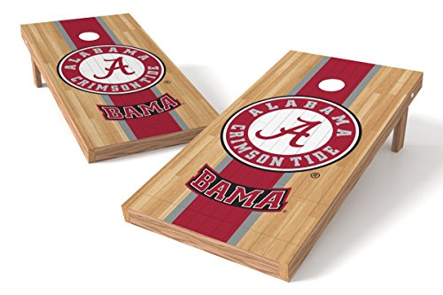 Wild Sports NCAA College Alabama Crimson Tide 2' x 4' Hardwood Authentic Cornhole Game Set