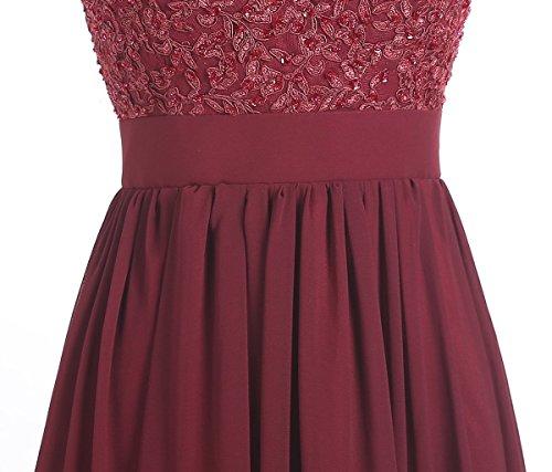 CoutureBridal - Vestido - corte imperio - para mujer Rojo