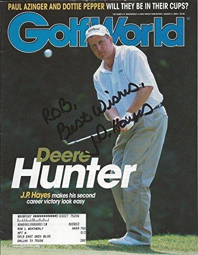 JP Hayes Signed 2002 Golf World Full Magazine - Autographed Golf Magazines Autographed Golf World Magazine