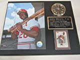 Lou Brock St Louis Cardinals Collectors Clock Plaque w/8x10 Photo and Card