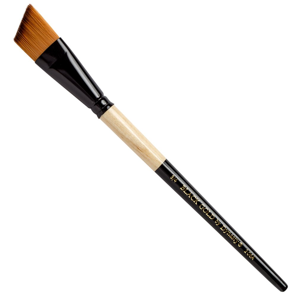 Dynasty Black Gold Series Synthetic Brushes Short Handle 3/4 in. angular 57776