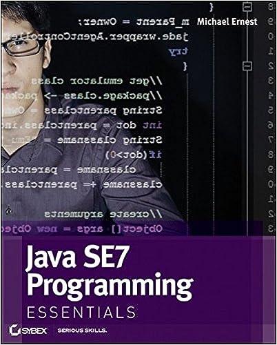 Java SE7 Programming Essentials