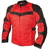 Xelement XS-8161 All Season Mens Black/Red Tri-Tex/Mesh Jacket - Large