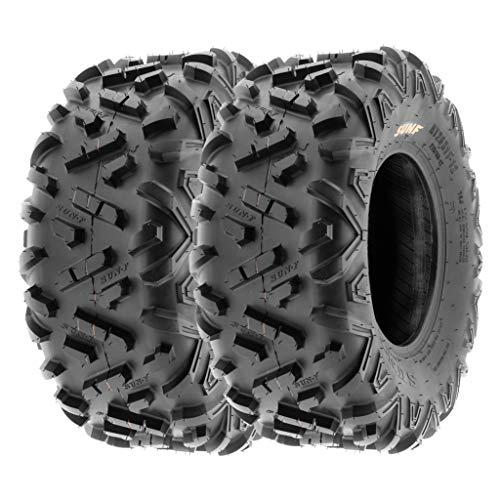 SunF 22x10-10 22x10x10 ATV UTV A/T Mud Replacement 6 PR Tubeless Tires A051 POWER II, [Set of 2]