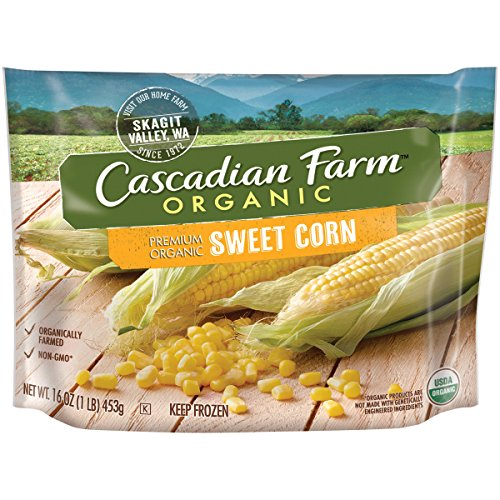 - Cascadian Farm Organic Sweet Corn, 16oz Bag (Frozen), Organically Farmed Frozen Vegetables, Non-GMO