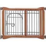 Richell 94111 Wood Pet Sitter Gate, Autumn Matte Finish