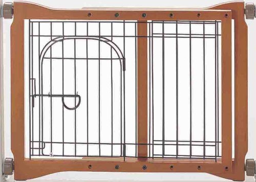 - Richell Wood Pet Sitter Gate, Autumn Matte Finish