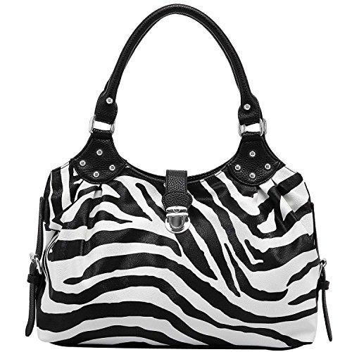 Casual Hobo Handbags (FASH Large Zebra Print Satchel Style Top Handle Handbag)