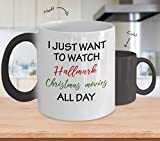 I Just Want To Watch Hallmark Christmas Movies Mug (Heat Changing) 11oz Hallmark Christmas Movies Coffee Mug - Christmas Mug - Funny Christmas Gift Exchange - Hallmark Christmas Movies Cup