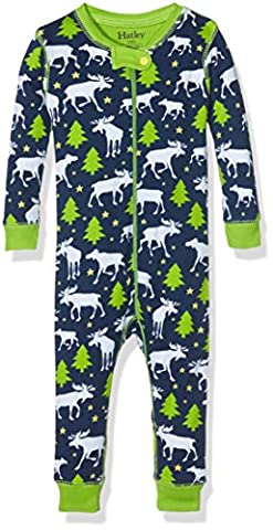 Hatley Boys' Coverall, Moose and Stars,