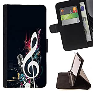 For Samsung GALAXY E5/E500F Case,Samsung Galaxy E5 cool music note microphone beat bass love Style PU Leather Case Wallet Flip Stand Flap Closure Cover