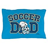 CafePress - Snoopy - Soccer Dad Full Bleed - Standard Size Pillow Case, 20''x30'' Pillow Cover, Unique Pillow Slip
