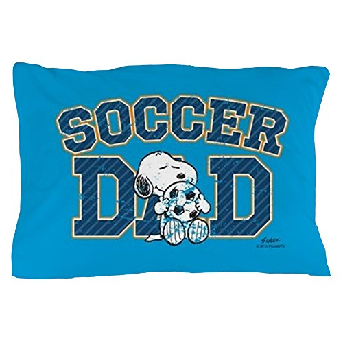CafePress - Snoopy - Soccer Dad Full Bleed - Standard Size Pillow Case, 20''x30'' Pillow Cover, Unique Pillow Slip by CafePress
