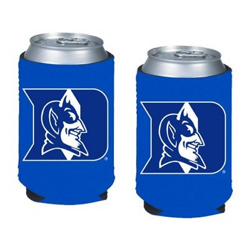 NCAA Duke - Neoprene Pocket Coolies (2) | Duke Blue Devils Collapsible Beverage Insulators - Set of 2