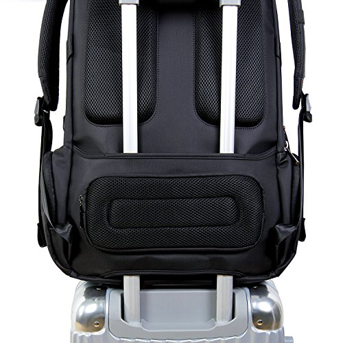 "Lifewit Men Large Laptop Backpack Water Resistant Travel School Business College Computer Bag Carry-on Fits Up to 17.3-18.4 Inch, Black (18.4"" Black) by Lifewit (Image #5)"