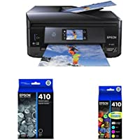 Epson XP-830 Wireless Color Photo Printer with Scanner, Copier & Fax, Amazon Dash Replenishment Enabled with Ink Cartridge, Black and Claria Premium Multipack Ink
