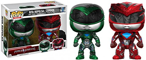 Funko Power Rangers-Rita Repulsa/Zordon - Juego de 2 figuritas, Multicolor, 1