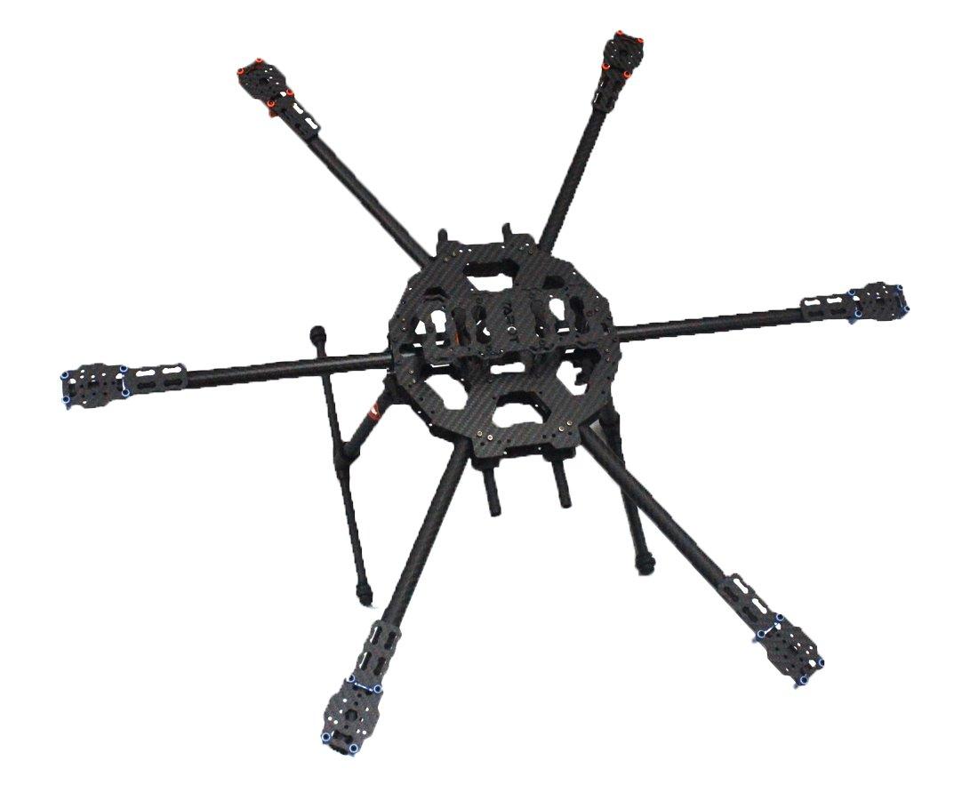 Tarot Fy680 3k Carbon Fiber Full Folding Hexacopter 680mm FPV Frame ...