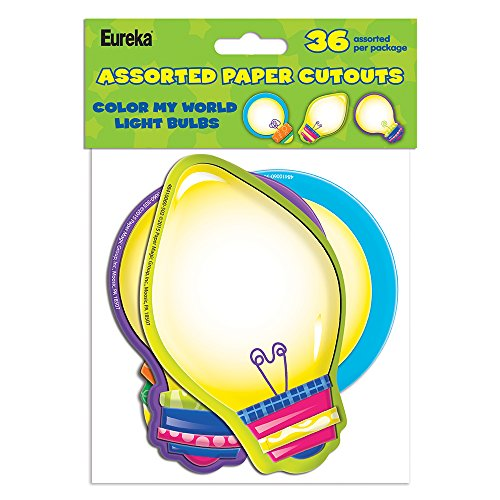 Eureka Color My World Light Bulbs Asst. Paper Cut Outs (841006)