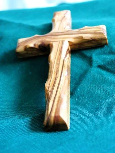 Cruz de Madera de Olivo Wall Cross Olive Wood 5 13 CM Bethlehem