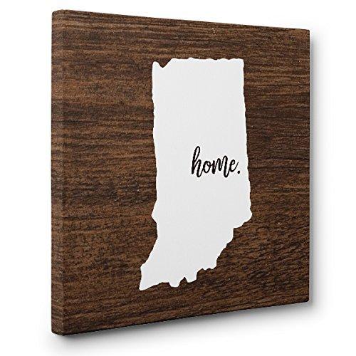 Indiana Home CANVAS Wall Art Home D/écor
