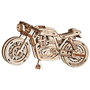 Wooden City Puzzle 3d Di Legno Cafe Racer