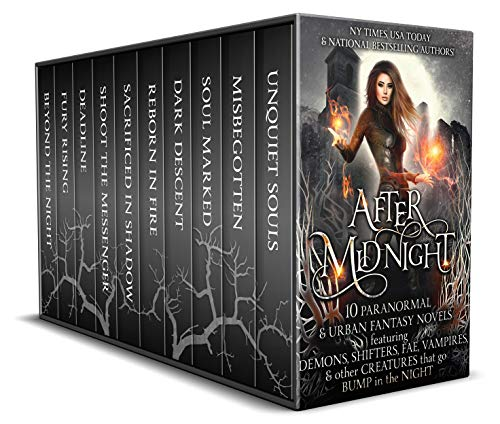 When the clock strikes midnight, dark spirits rise….           Lose yourself in a collection of ten spellbinding novels from NY Times, USA Today, and national bestselling authors! Demons and vampires come alive in these pages, creeping...