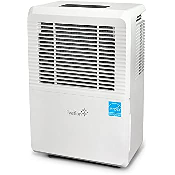 Ivation 70 Pint Energy Star Dehumidifier - Large-Capacity For Spaces Up To 4,500 Sq Ft - Includes Programmable Humidistat, Hose Connector, Auto Shutoff/Restart, Casters & Washable Air Filter