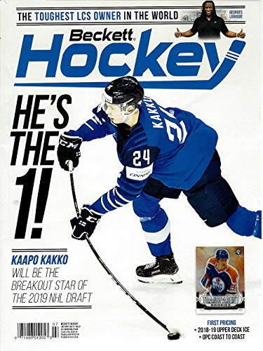 (NEWEST GUIDE: Beckett Hockey Card Monthly Price Guide (June 11, 2019 release/K. Kakko cover) )