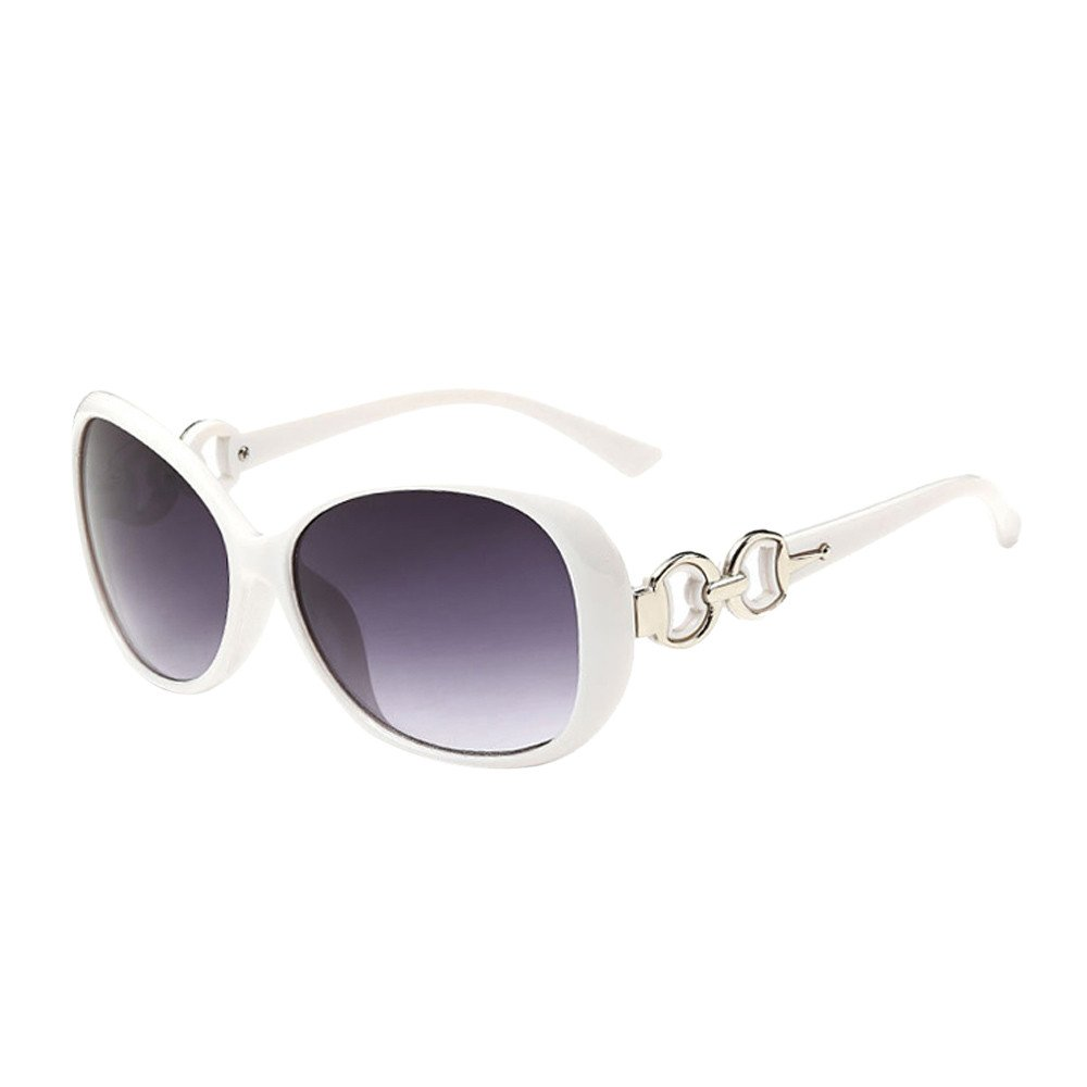 Women Men Double Ring Decoration Shades Sunglasses TANGSen Vintage Fashion Integrated Outdoor UV Glasses(D,One Size)