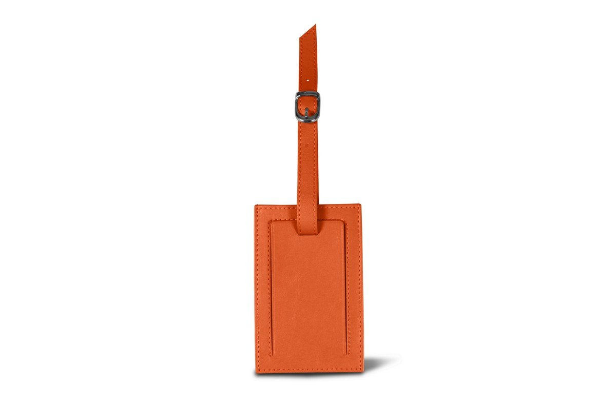 Lucrin - Bag Tag - Orange - Smooth Leather by Lucrin