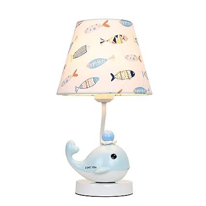 Wshfor Preciosa lámpara de Mesa de Pescado, Dormitorio ...
