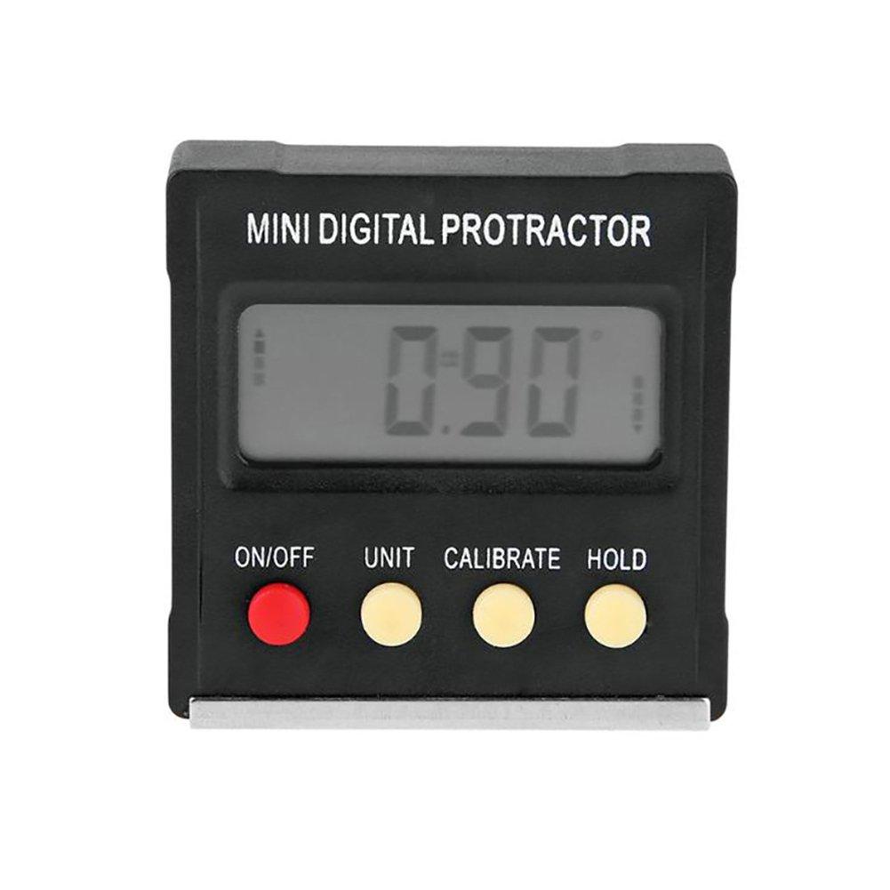 Digital Angle Finder Protractor Spirit Level Gauge Meter Mini Digital Inclinometer Inclinometer Box Protractor Angle Leveler Angle Scale Grade Meter Level Meter Besthuer