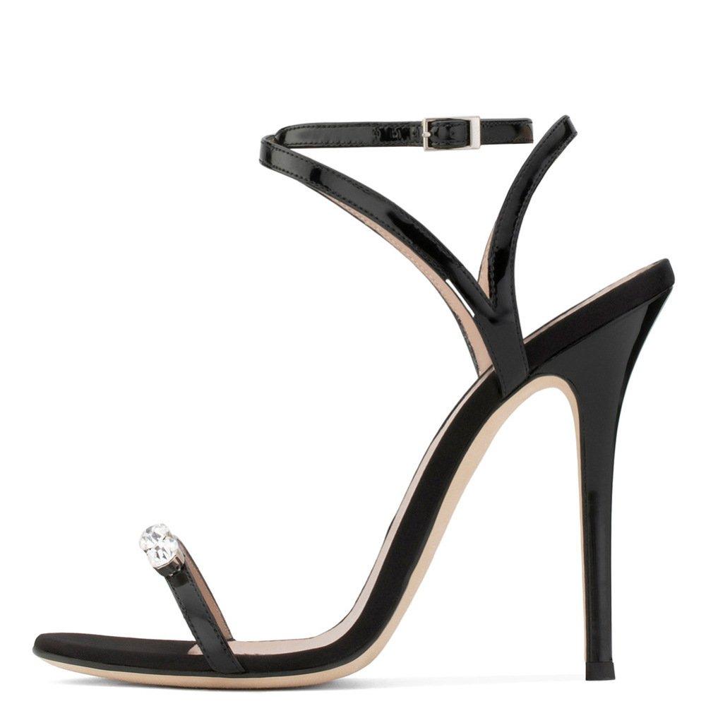Party Hauts Bride La Bout Shoes Talons Femmes À Dames Aiguilles Stiletto Cheville Zpfmm Ouvert Strass I7ybfm6gYv