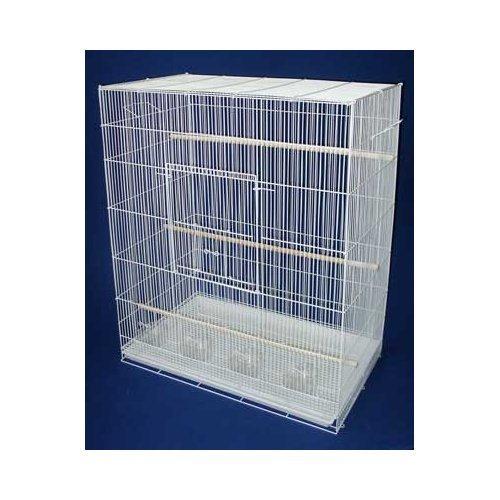 New Large Bird Cage cockatiel sugar glider finch parakeet 30″Wide x 18″Deep x 36″Tall *White*, My Pet Supplies