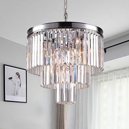 Zgear Luxury Modern Contemporary Crystal Chandelier Ceiling Light Pendant Light for Dining Room, Living Room 7 Lights