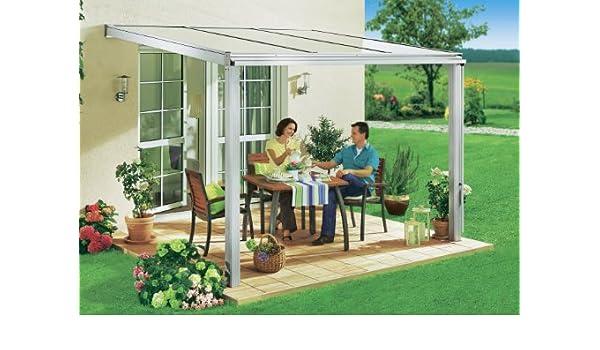 Beckmann - Cubierta para terraza (422 x 307 cm, aluminio), color natural: Amazon.es: Hogar