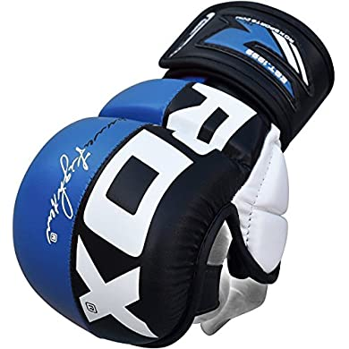 RDX-MMA-Gloves-Grappling-Martial-Arts-Punching-Bag-Maya-Hide-Leather-Mitts-Sparring-Cage-Fighting-Combat-UFC-Training
