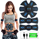 USB Rechargeable Abs Stimulator,OUBARDE EMS Abs Trainer Muscle Trainer - 6 Modes